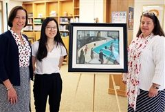 At Wednesday's Morning Meeting, Head of School Cathy McGehee and Fine Arts Department Chair Karin Thorndike were thrilled to announce that Hyeri W. '18 is the latest student to contribute to the Permanent Student Art Collection.