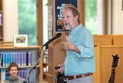 On Tuesday, storyteller, musician, and former English teacher Clark Hansbarger came to Foxcroft as part of the Helen Cudahy Niblack '42 Arts Lecture Series.
