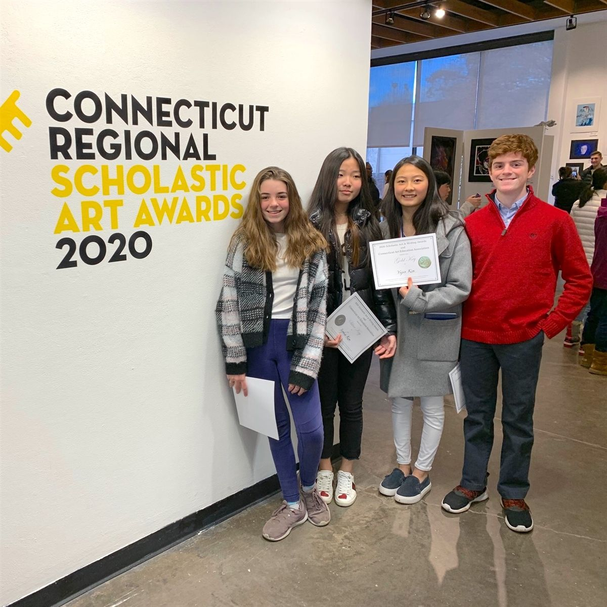 IMS STUDENTS ATTEND ART COMPETITION, RECEIVE HONORS