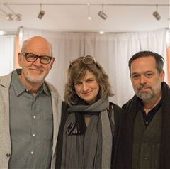 Art Show Judges (l. to r.): Frank Oz, Terri Moore, Theo Coulombe