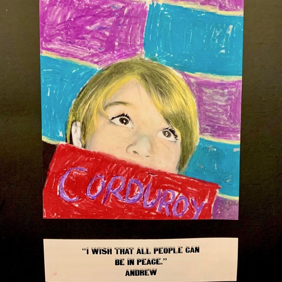 Corduroy Art Pieces by kindergarten