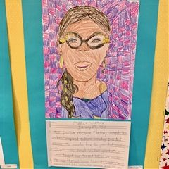 Second Grade  Students create Black History Month Profiles.
