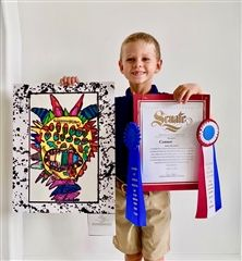 Connor 1st place 2-D art