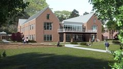 A rendering of the 32,000 sq.ft. Upper School building