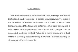 The Effects of Lowered Stress Through the Use of Biofeedback on Student Performance