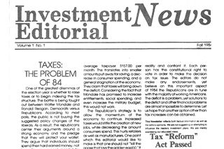 Publishing The Investment Editorial News