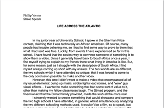 Life Across the Atlantic - A Documentary