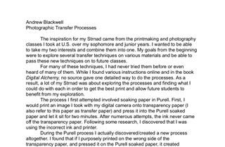 Photographic Transfer Processes