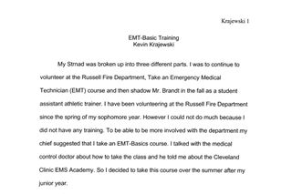 EMT Basic Training at the Cleveland Clinic Academy