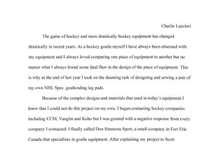 The Design and Construction of Hockey Equipment