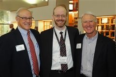 US Board of Trustee President Christopher Smythe '78, Head of School Patrick Gallagher, Head of School Search Committee Chair Marc Byrnes '72