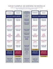 Sample Academic Block Schedule