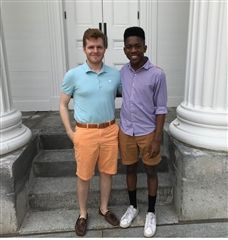 Coleman Walsh '18 and Donavan Payne '18