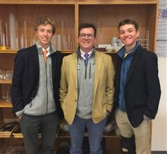 (l-r) Andrew Kaneb '17, ASR director Jared Courtney, Jack Daley '17