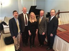 (l-r) Director of Global Education Adam Harder, William Moomaw, Halla Hrund Logadóttir, Rick Melvoin, Bill Hunt