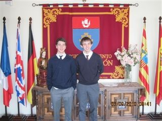 Past participants Nick Favoloro and Ryan Baxter-King in the Spanish exchange.