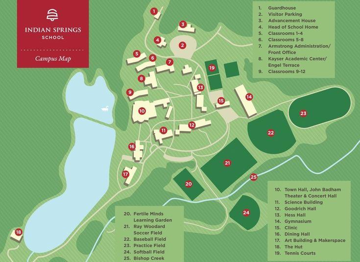 spring creek campus map Indian Springs Introduces New Campus Map spring creek campus map