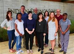 Meet our new faculty and staff! Back row, from left: George Mange, James Griffin, Tessa Magnuson, Colin Davis. Front row, from left: Annie Galey, Mia Coleman, Mandy Griffin, Anabel Graff, Susan Caraway, Farrah Beckham. Not pictured: Caroline Colvin, Leah Taylor, Ansley Rudak, Mateusz Rudak.
