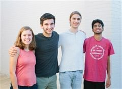 From left: Abigail Shepherd, Jack Markert, Luke Molbak, and Krishna Josyula