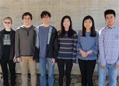 (From the left) Sam St. John, Peter Scalise, Henry Goff, Danielle Wu, Amy Li, Ken Jiao