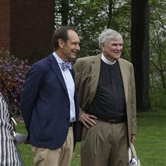 The Rev. B. W. Woodward, Jr. (right) and Board Chair Bob Hall (left)