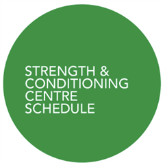 Strength and Conditioning Centre Schedule