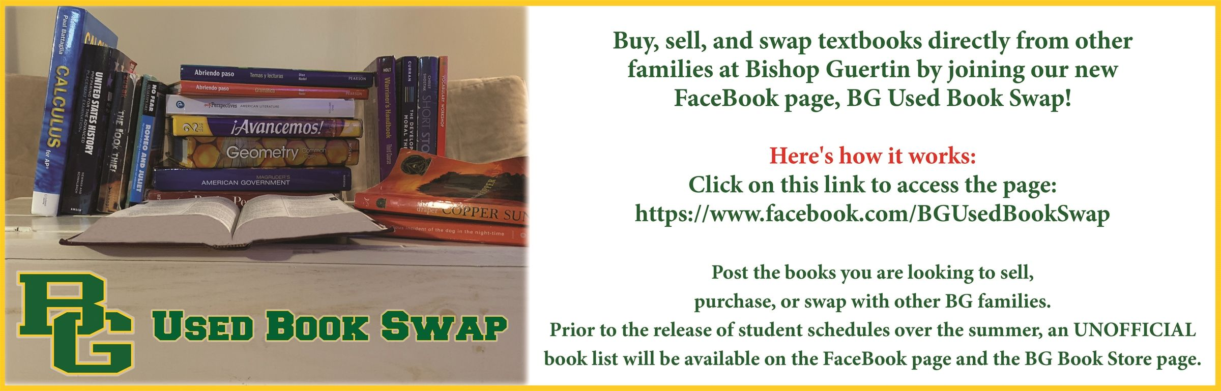 Used Book Swap Banner