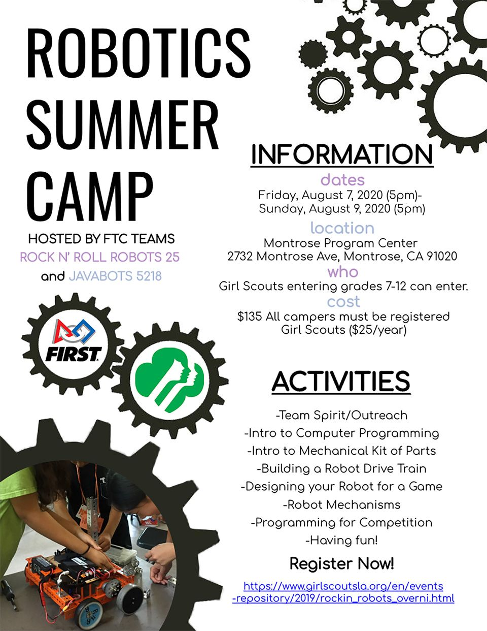 Robotics Camp Flyer