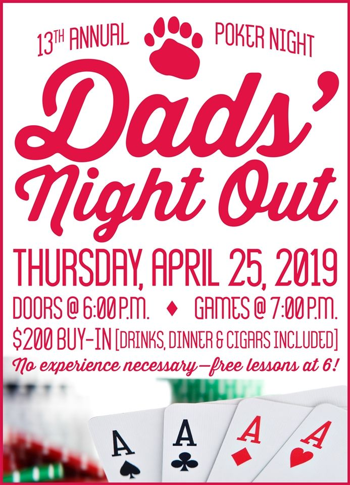Calling all Mayfield Dads! Sign up online at http://bit.ly/dads-poker-night-2019