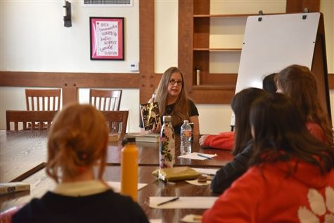Bestselling author Janet Fitch guided Creative Writing students through immersive writing exercises