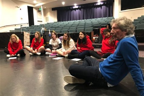 Broadway costume designer Michael Krass speaks to freshman theatre students about his craft