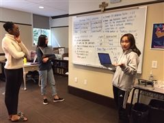 Students prep for the 14-hour MathWorks Math Modeling (M3) Challenge