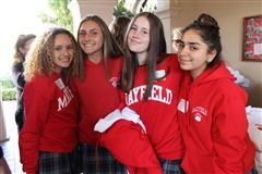 Members of the Class of 2023 get into the Mayfield spirit at the Admitted Students Reception