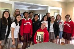 The Mayfield History Club meets in Gracemere House — a modern structure on campus that didn't exist when E.J. Marshall's home (now Strub Hall) was completed in 1919.