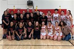 Our Varsity Cubs edged out our alum athletes 34-29 at the Alumnae Games holiday hoops match on Dec. 28