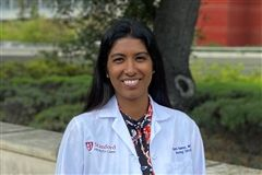 Dr. Reena Vishwanath Thomas '98, practices and teaches neuro-oncology at the Stanford University School of Medicine.