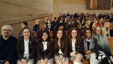 Visual arts students attend Mass as Cathedral of our Lady of the Angels