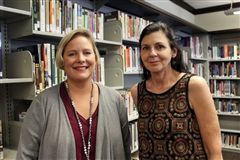 Julie Daniels, our Assistant Librarian and Ann Pibel, Mayfield's Directory of Library Services