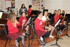 Instrumental students practice for their big Christmas concert