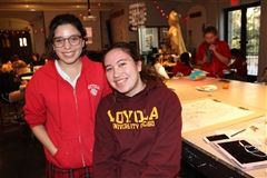Laura Noriega '18 (left) and Allison Zettlemoyer '18 (right) lead the Mayfield Chapter of the National Art Honor Society