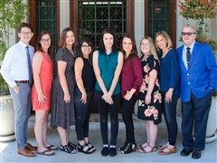 We welcome (L to R) Michael Dimen, Emily Goodell '99, Lynn Maloney, Cassandra Gonzales, Cheyenne Sons, Andrea Sweeney-Blanco '12, Katie Waferling, Amy Green and John Romano.