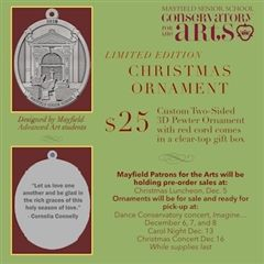 Support Mayfield artists and order your Christmas ornament now!