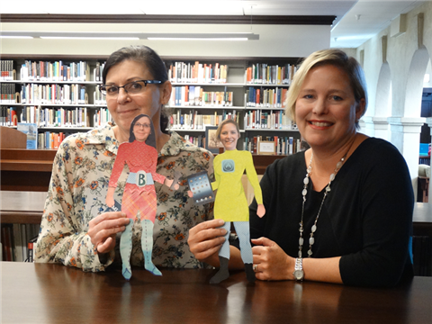 Ann Pibel and Julie Daniels, our Superhero Librarians!