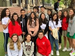 Costa Rica Students with Chandler Eighth Graders