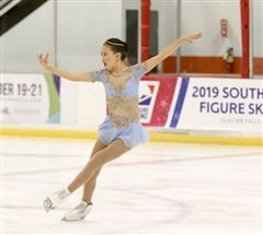 Elizabeth Hong Competing on Ice
