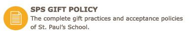 SPS Gift Policy