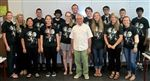 The class with Mountain T-shirt Company co-founder Michael Krinsky.