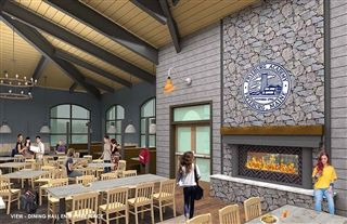 Dining Hall Entry Fireplace