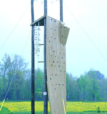 FA's OLRC Erects Low Ropes Course and 30-Foot Climbing Wall