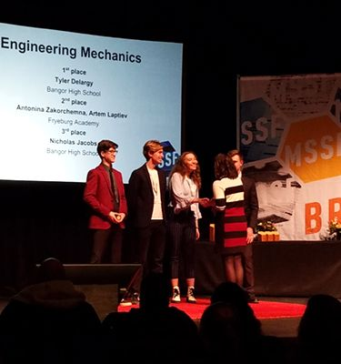 Fryeburg Academy Students Win 2nd Place at the 73rd Maine State Science Fair